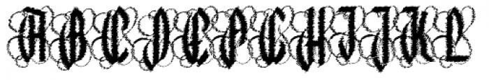 Lycaner Slices Font UPPERCASE