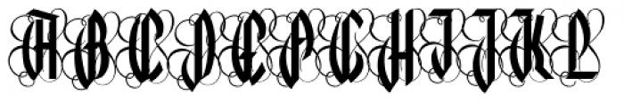 Lycaner Font UPPERCASE
