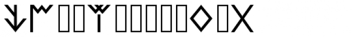 Lycian Monolith Font UPPERCASE