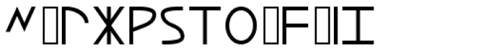 Lycian Monolith Font LOWERCASE