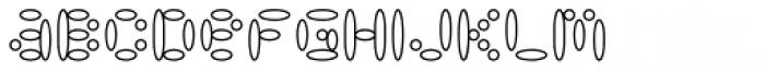 LysosomeOutline Font LOWERCASE