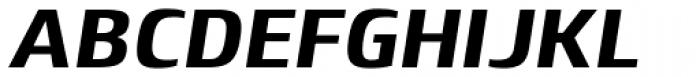 Lytiga Pro Black Italic Font UPPERCASE