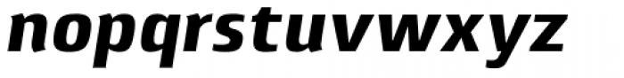 Lytiga Pro Black Italic Font LOWERCASE