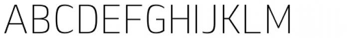 Lytiga Pro Condensed ExtraLight Font UPPERCASE