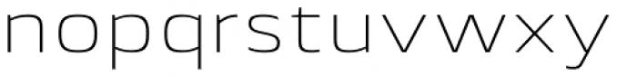 Lytiga Pro Extended ExtraLight Font LOWERCASE