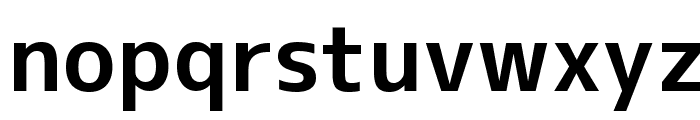 M+ 1c bold Font LOWERCASE