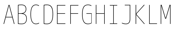 M+ 1m thin Font UPPERCASE