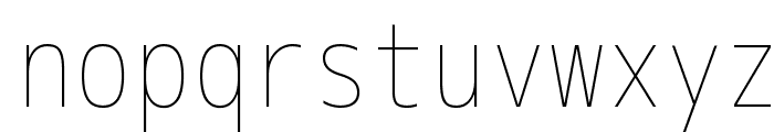 M+ 1m thin Font LOWERCASE