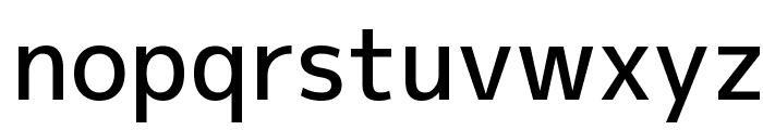 M+ 1p medium Font LOWERCASE
