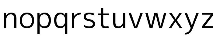 M+ 2p regular Font LOWERCASE
