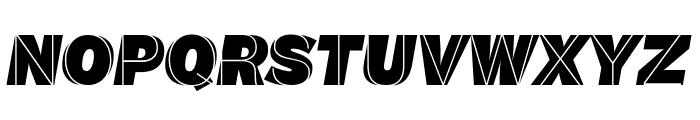 M.F. Plexus Italic Font UPPERCASE