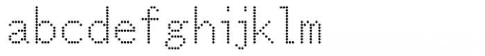 M Bitmap Round HK Light Font LOWERCASE