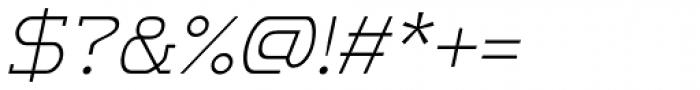 m7 Light Italic Font OTHER CHARS