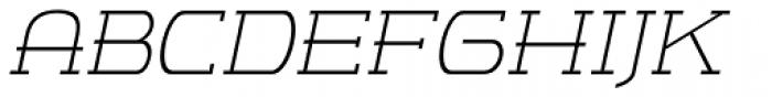 m7 Light Italic Font UPPERCASE
