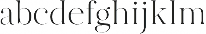 MADE Canvas otf (300) Font LOWERCASE