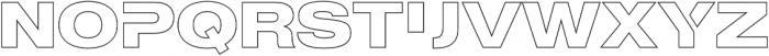 MADE Outer Sans Outline Alt otf (700) Font LOWERCASE