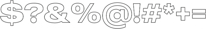 MADE Outer Sans Outline otf (700) Font OTHER CHARS
