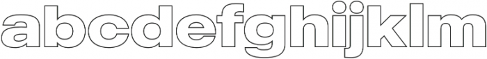 MADE Outer Sans Outline otf (700) Font LOWERCASE