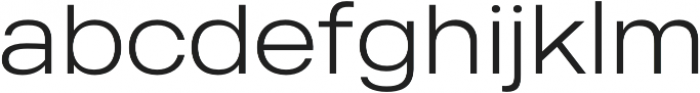 MADE Outer Sans otf (100) Font LOWERCASE