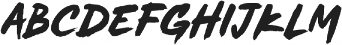 MADE Soulmaze Brush otf (400) Font LOWERCASE