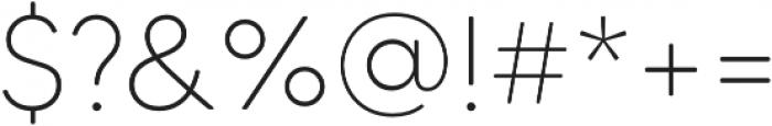 MADETommySoft-Thin otf (100) Font OTHER CHARS