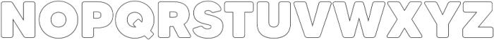 MADETommySoftOutline-Black otf (900) Font UPPERCASE