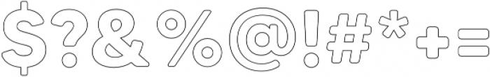 MADETommySoftOutline-Bold otf (700) Font OTHER CHARS