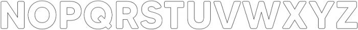 MADETommySoftOutline-Bold otf (700) Font UPPERCASE