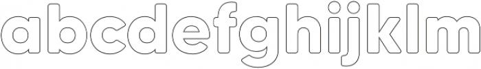 MADETommySoftOutline-Bold otf (700) Font LOWERCASE