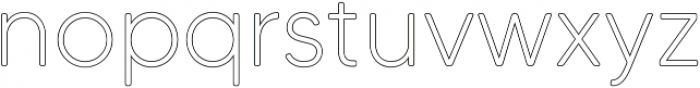 MADETommySoftOutline-Light otf (300) Font LOWERCASE