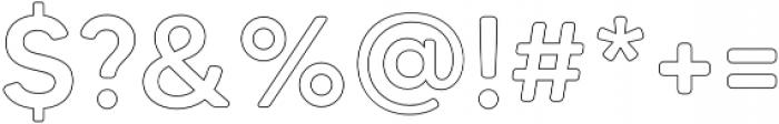 MADETommySoftOutline-Medium otf (500) Font OTHER CHARS