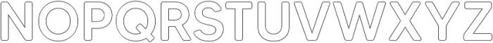 MADETommySoftOutline-Medium otf (500) Font UPPERCASE