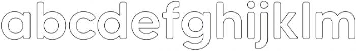 MADETommySoftOutline-Medium otf (500) Font LOWERCASE