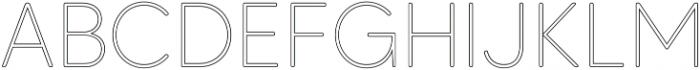 MADETommySoftOutline-Thin otf (100) Font UPPERCASE