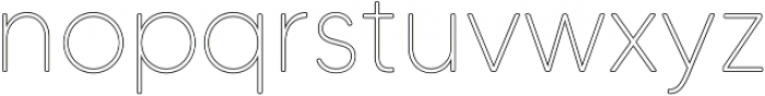 MADETommySoftOutline-Thin otf (100) Font LOWERCASE