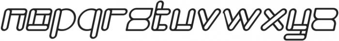 MAXIMUM KILOMETER Bold Italic otf (700) Font LOWERCASE