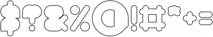 MAXIMUM KILOMETER-Filled-Hollow otf (400) Font OTHER CHARS