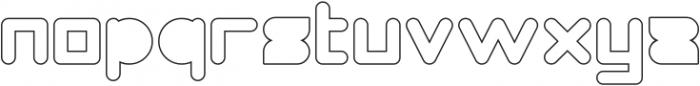 MAXIMUM KILOMETER-Filled-Hollow otf (400) Font LOWERCASE