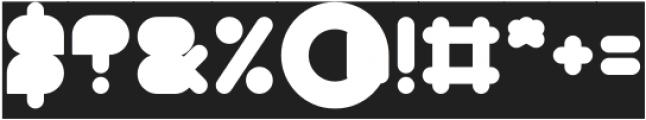 MAXIMUM KILOMETER-Filled-Invers otf (400) Font OTHER CHARS