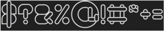 MAXIMUM KILOMETER-Hollow-Invers otf (400) Font OTHER CHARS