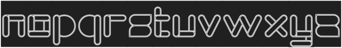 MAXIMUM KILOMETER-Hollow-Invers otf (400) Font LOWERCASE