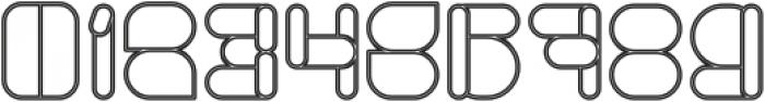 MAXIMUM KILOMETER-Hollow otf (400) Font OTHER CHARS
