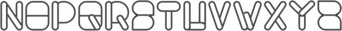 MAXIMUM KILOMETER-Hollow otf (400) Font UPPERCASE