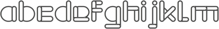 MAXIMUM KILOMETER-Hollow otf (400) Font LOWERCASE