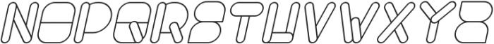 MAXIMUM KILOMETER Italic otf (400) Font UPPERCASE