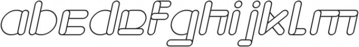 MAXIMUM KILOMETER Italic otf (400) Font LOWERCASE