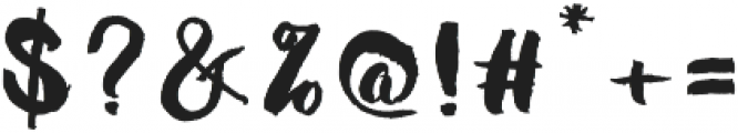 Mabotim Brush otf (400) Font OTHER CHARS