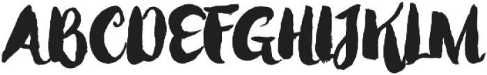 Mabotim Brush otf (400) Font UPPERCASE