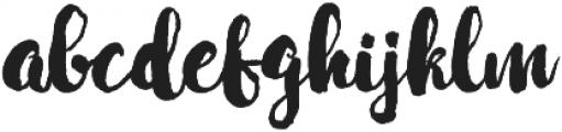 Mabotim Brush otf (400) Font LOWERCASE
