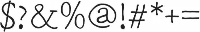 Macarons Light otf (300) Font OTHER CHARS